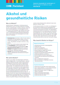 Detailanzeige: FactSheet Alkohol und gesundheitliche Risiken (Stand: Dezember 2018)