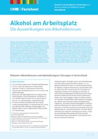 Detailanzeige: FactSheet Alkohol am Arbeitsplatz (Stand: November 2019)