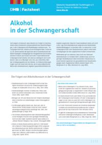 Detailanzeige: FactSheet Alkohol in der Schwangerschaft (Stand: Dezember 2015)