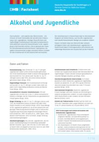 Detailanzeige: FactSheet Alkohol und Jugendliche (Stand: Juni 2016)