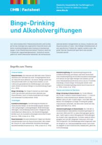 Detailanzeige: FactSheet Binge-Drinking und Alkoholvergiftungen (Stand: Dezember 2015)